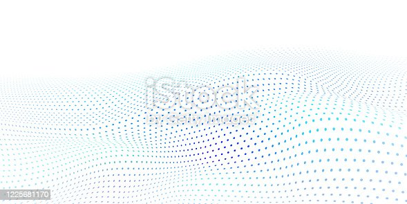 istock Abstract wavy halftone dots background 1225681170
