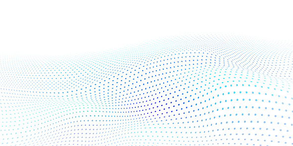 Abstract wavy halftone dots background
