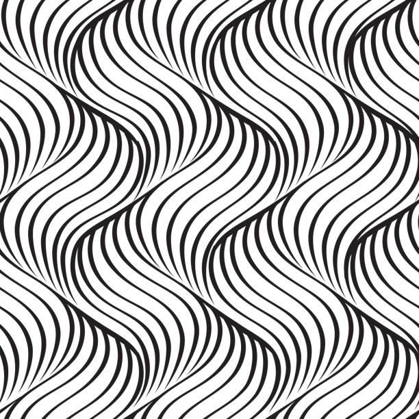 abstrakte wellige linie nahtlose muster - perlenweben stock-grafiken, -clipart, -cartoons und -symbole