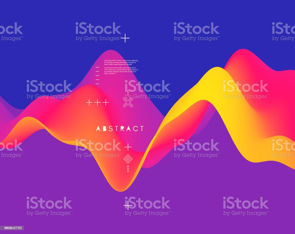 Abstract wavy pattern. Background for design. Vector Illustration for banner, flyer, book cover, poster. royalty-free abstract wavy pattern background for design vector illustration for banner flyer book cover poster stock illustration - download image now