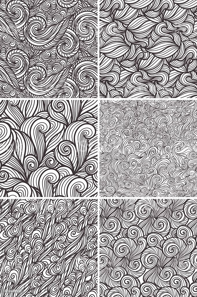 Abstract wavy pattern set royalty-free abstract wavy pattern set stock vector art & more images of 2015