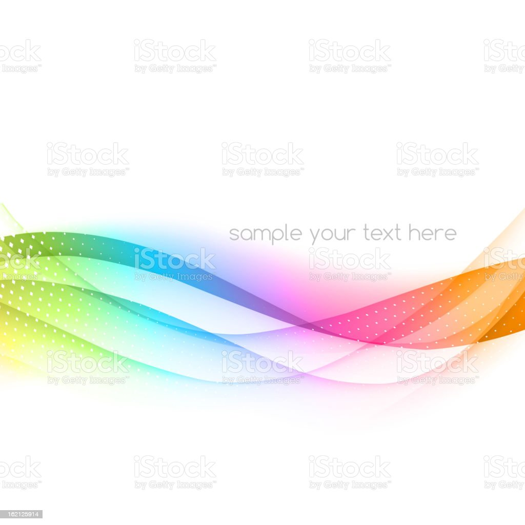 Abstract wavy ribbon effect background vector art illustration