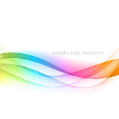Abstract wavy ribbon effect background