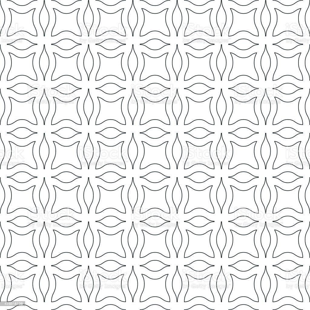 Abstract wavy seamless pattern vector art illustration