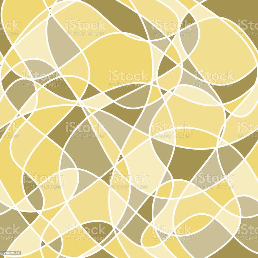 abstrakte wellige Formen. Vektor Musterdesign. Gelb und grün hintergrund - Lizenzfrei Abstrakt Vektorgrafik