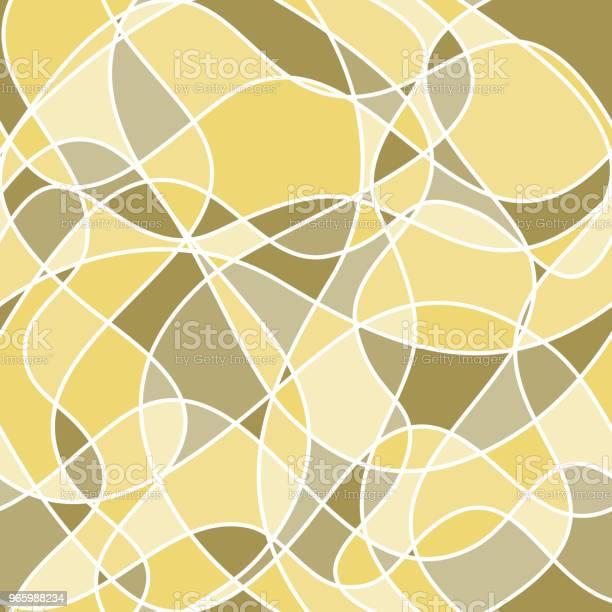 Abstrakte Wellige Formen Vektor Musterdesign Gelb Und Grün Hintergrund Stock Vektor Art und mehr Bilder von Abstrakt