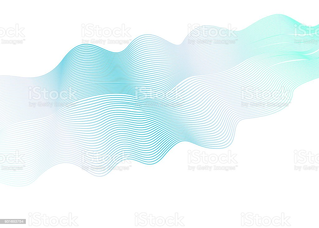 Line Art Design Abstract : Abstract illustration of dots and wave lines colorful background
