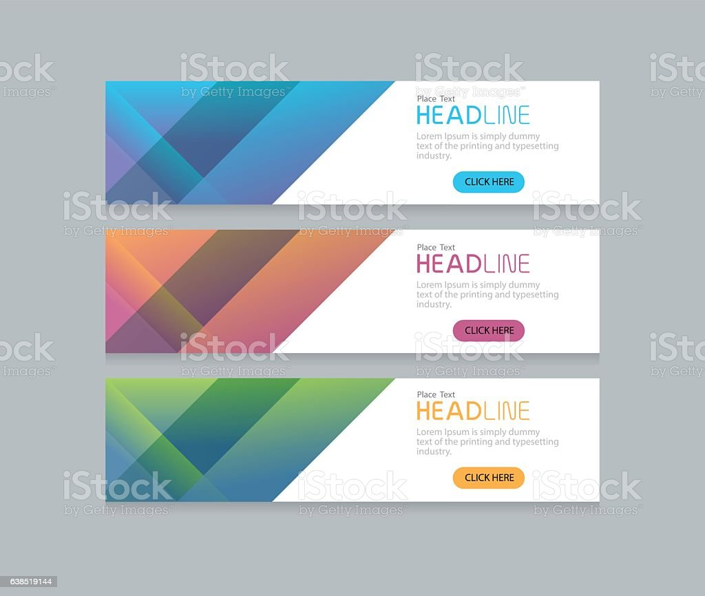 Abstract web banner design background template stock vector art abstract web banner design background template royalty free stock vector art pronofoot35fo Choice Image