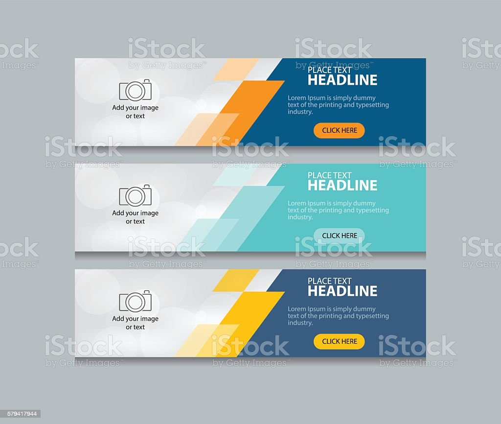 Abstract Web Banner Design Template Background Set Stock