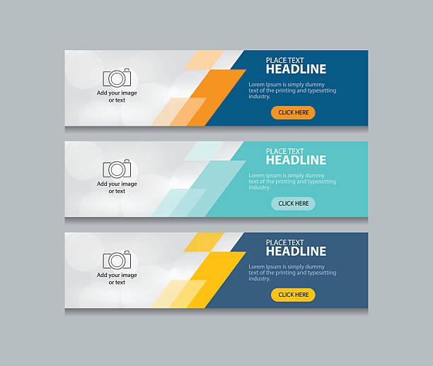 illustrations, cliparts, dessins animés et icônes de abstract web banner design template background  set - infographie de sites web