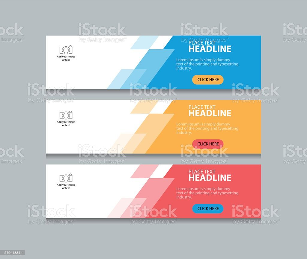 abstract web banner design template background vector art illustration