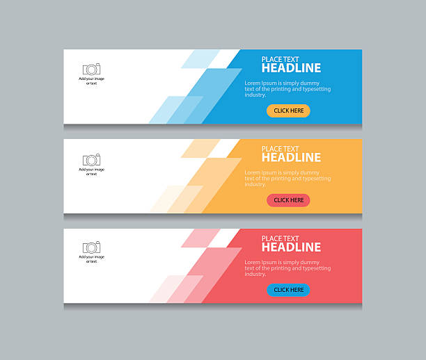 abstract web banner design template background - графический элемент stock illustrations