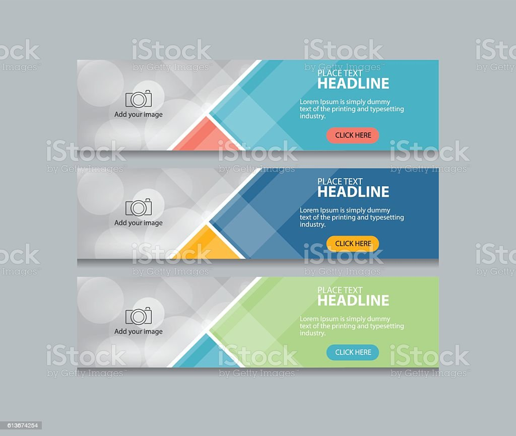 abstract web banner design template vector art illustration