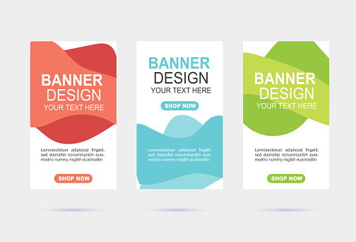 Abstract web banner template design