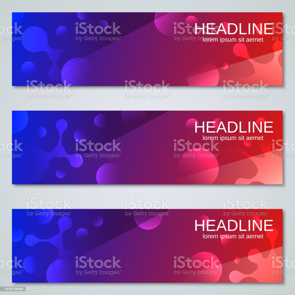 Abstract Web Banners Vector Templates Stock Vector Art & More Images ...