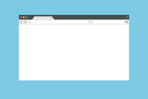 Abstract Web Browser Window - Vector Mockup