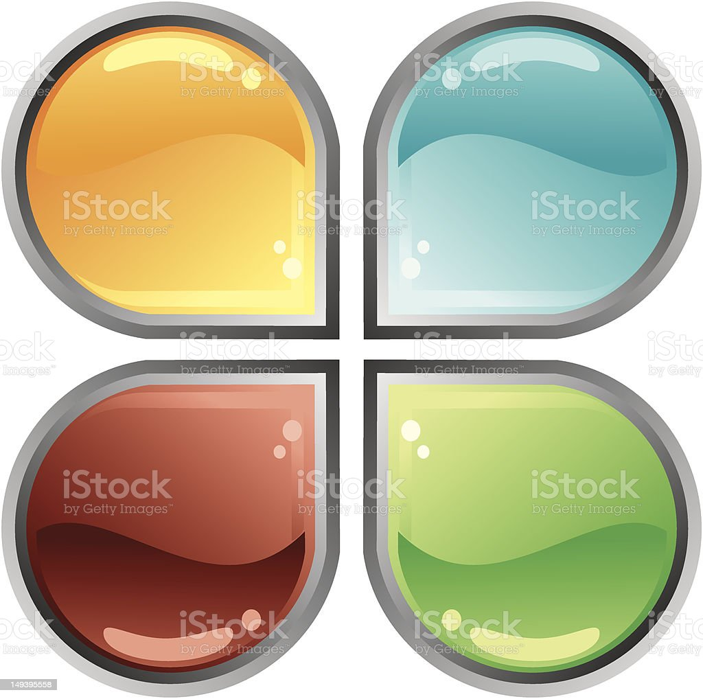 Abstract Web button royalty-free stock vector art