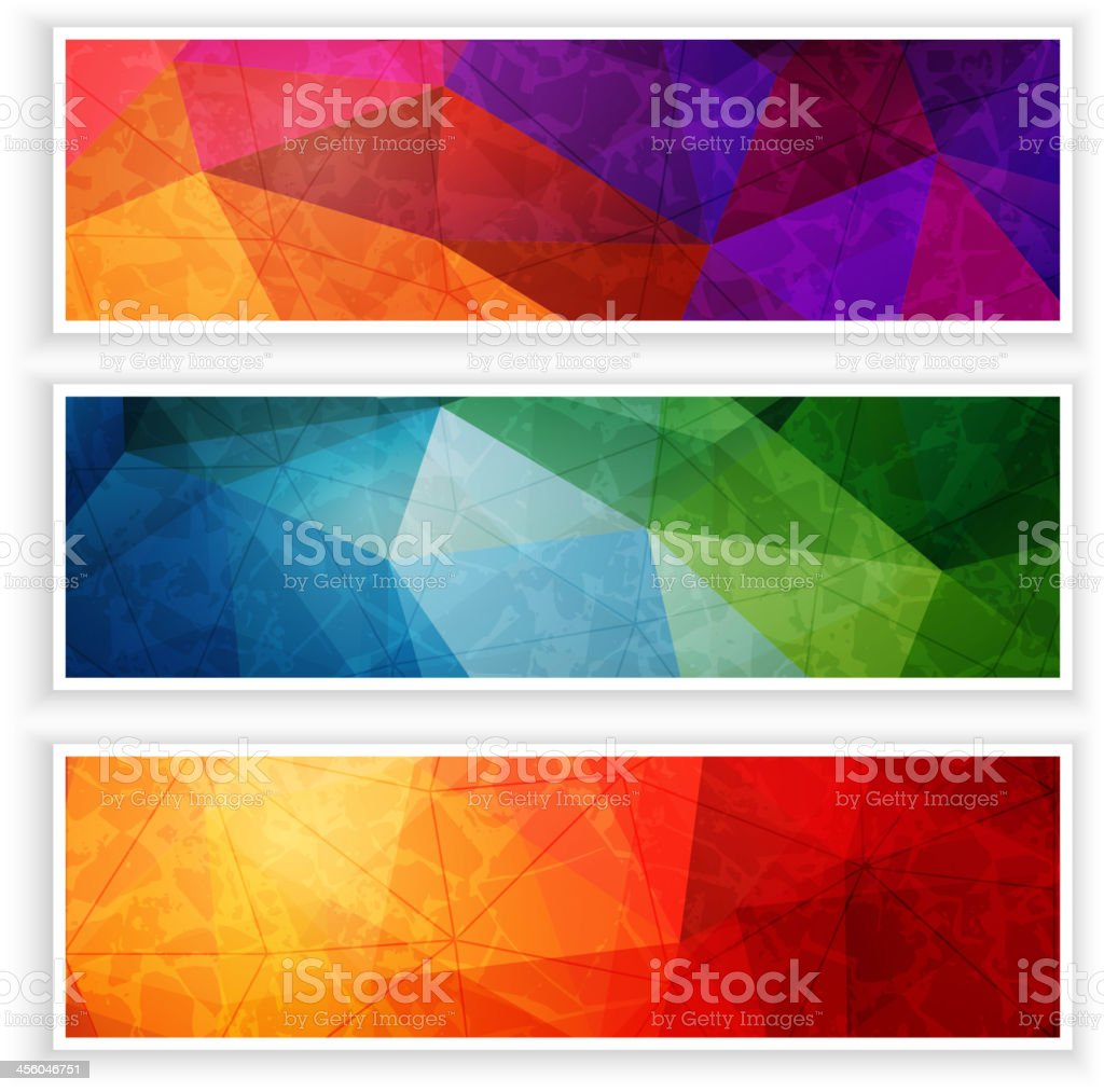 Abstract web headers set vector art illustration