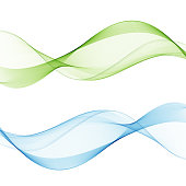 Abstract web smooth spring fresh dividers lines collection of bright