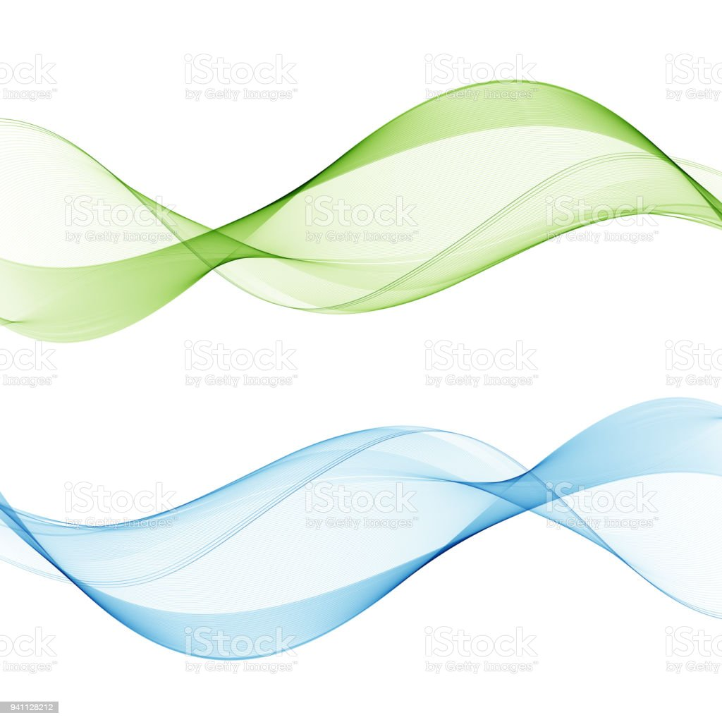 Abstract web smooth spring fresh dividers lines collection of bright vector art illustration