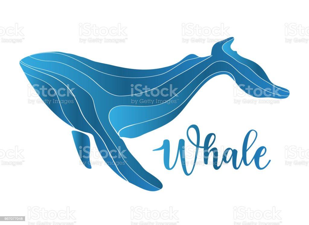 Geruhen abstrakte Wal-logo – Vektorgrafik