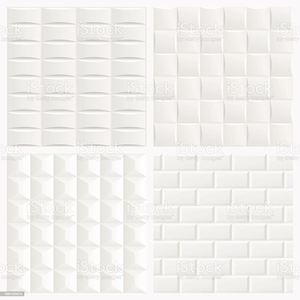Abstract White 3d Tile Geometric Pattern Seamless ...