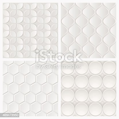 carrelage blanc 3d abstrait motif g om trique sans couture. Black Bedroom Furniture Sets. Home Design Ideas