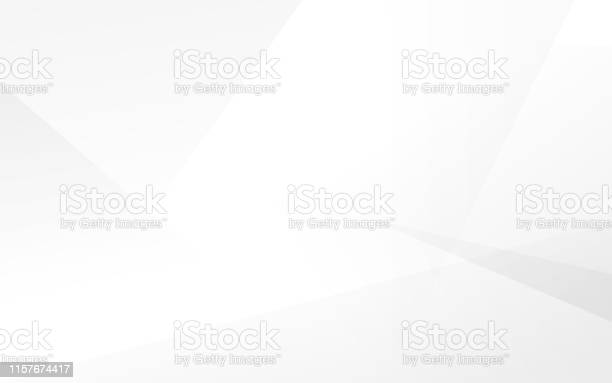 Abstract White And Gray Modern Background Vector Illustration - Arte vetorial de stock e mais imagens de Abstrato