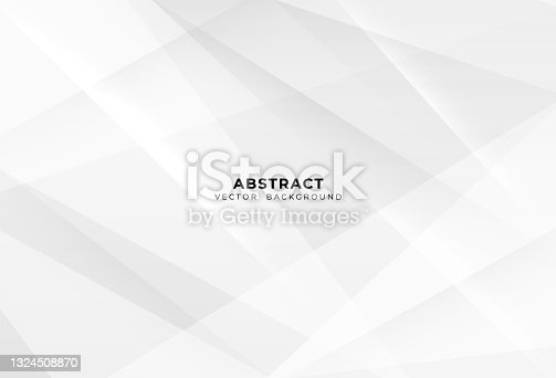 istock Abstract white and grey geometric modern background creative design. Simple light silver vector. Smooth and clean vector subtle background illustration 1324508870