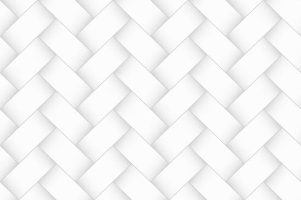추상 흰색 배경 - 기하학적 질감 - 엮다 stock illustrations
