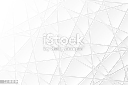 istock Abstract white background - Geometric texture 1221468639