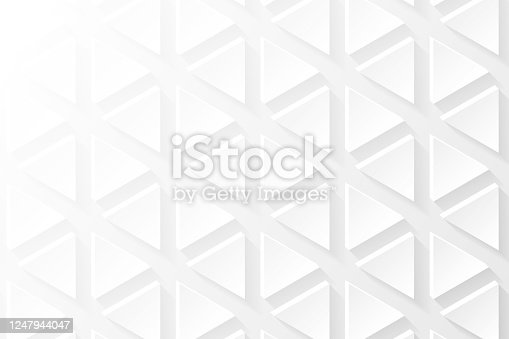 istock Abstract white background - Geometric texture 1247944047