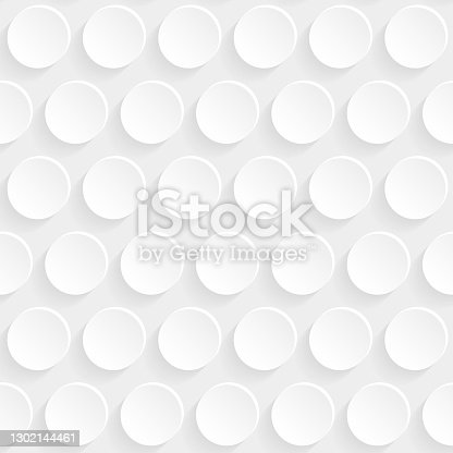 istock Abstract white background - Geometric texture 1302144461