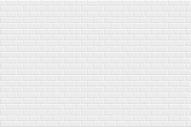 abstract white background - geometric texture - brick texture stock illustrations