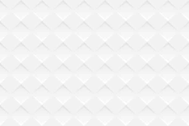 stockillustraties, clipart, cartoons en iconen met abstracte witte achtergrond - geometrische textuur - breed