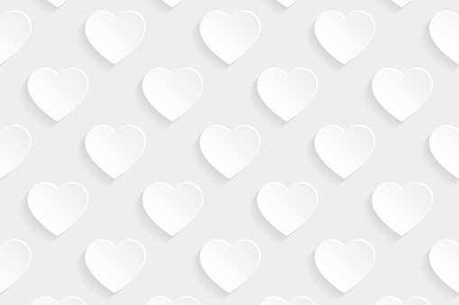 Abstract white background - Heart pattern