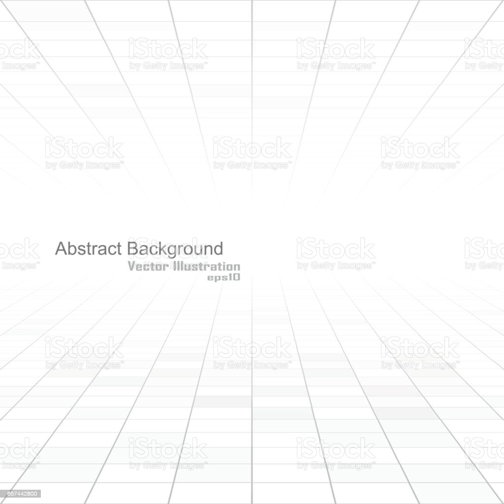 Abstract white background of vision perspective. vector art illustration