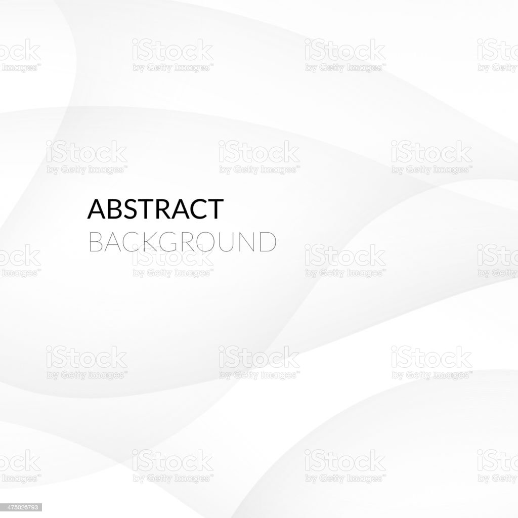 Abstract white background with smooth lines vector art illustration