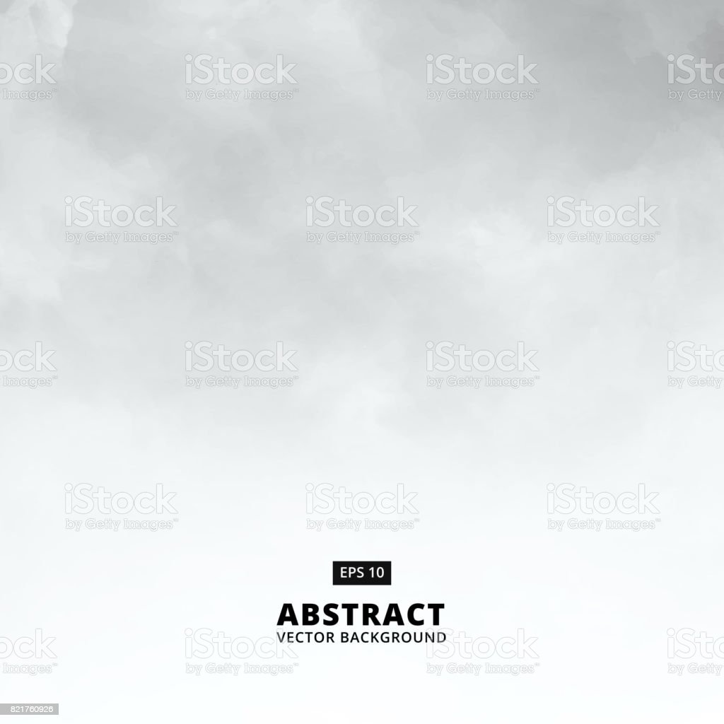 Abstract white cloud detail in blue sky vector illustration background with copy space - Royalty-free Abstrato arte vetorial