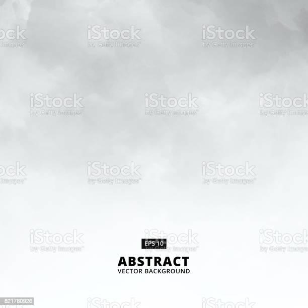 Abstract White Cloud Detail In Blue Sky Vector Illustration Background With Copy Space - Arte vetorial de stock e mais imagens de Abstrato