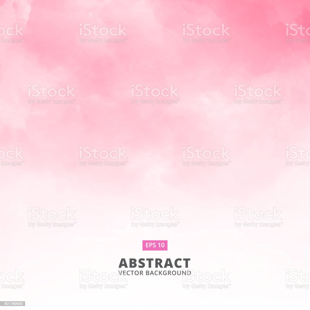Abstract white cloud detail in pink sky vector illustration background with copy vector art illustration