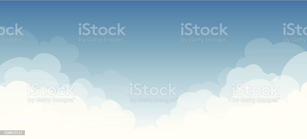 abstract white cloud on bluesky vector art illustration