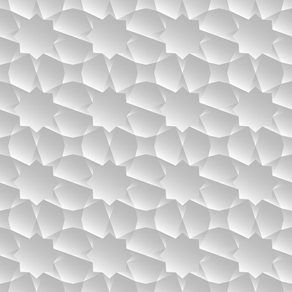 Abstract White Gradient Colored Polygonal Hexagon Background.