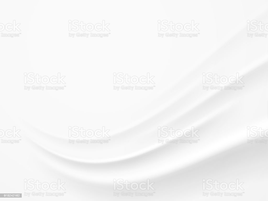 Abstract White , Gray Background with Clean Smooth Soft Wave , Vector Illustration vector art illustration
