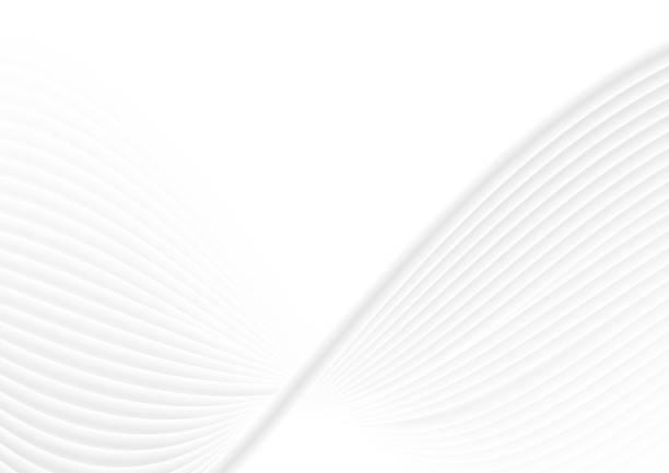 Abstrakt weiß grau Wellen und Linien-Muster – Vektorgrafik