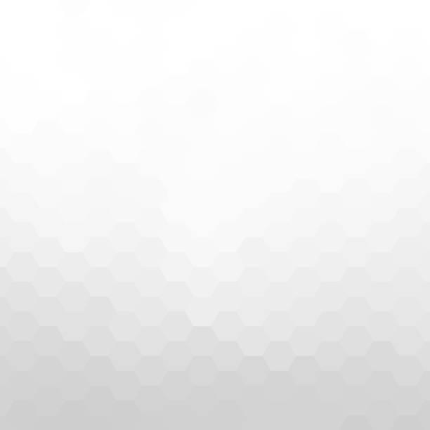 abstract white hexagon background - szare tło stock illustrations