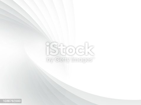 Abstract white modern gradient background. Wallpaper - Vector illustration.