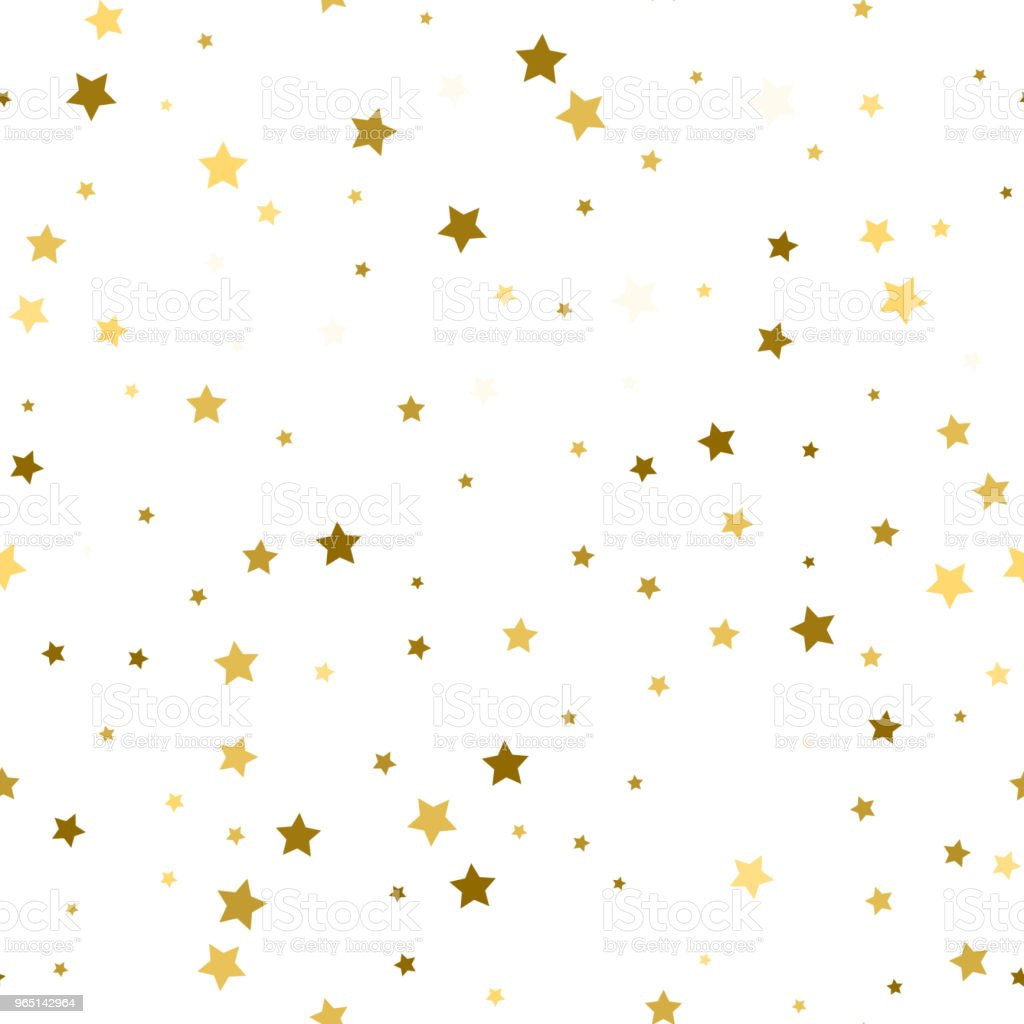 Abstract white modern seamless pattern with gold stars. Vector illustration.Shiny background. Texture of gold foil. royalty-free abstract white modern seamless pattern with gold stars vector illustrationshiny background texture of gold foil stock vector art & more images of abstract