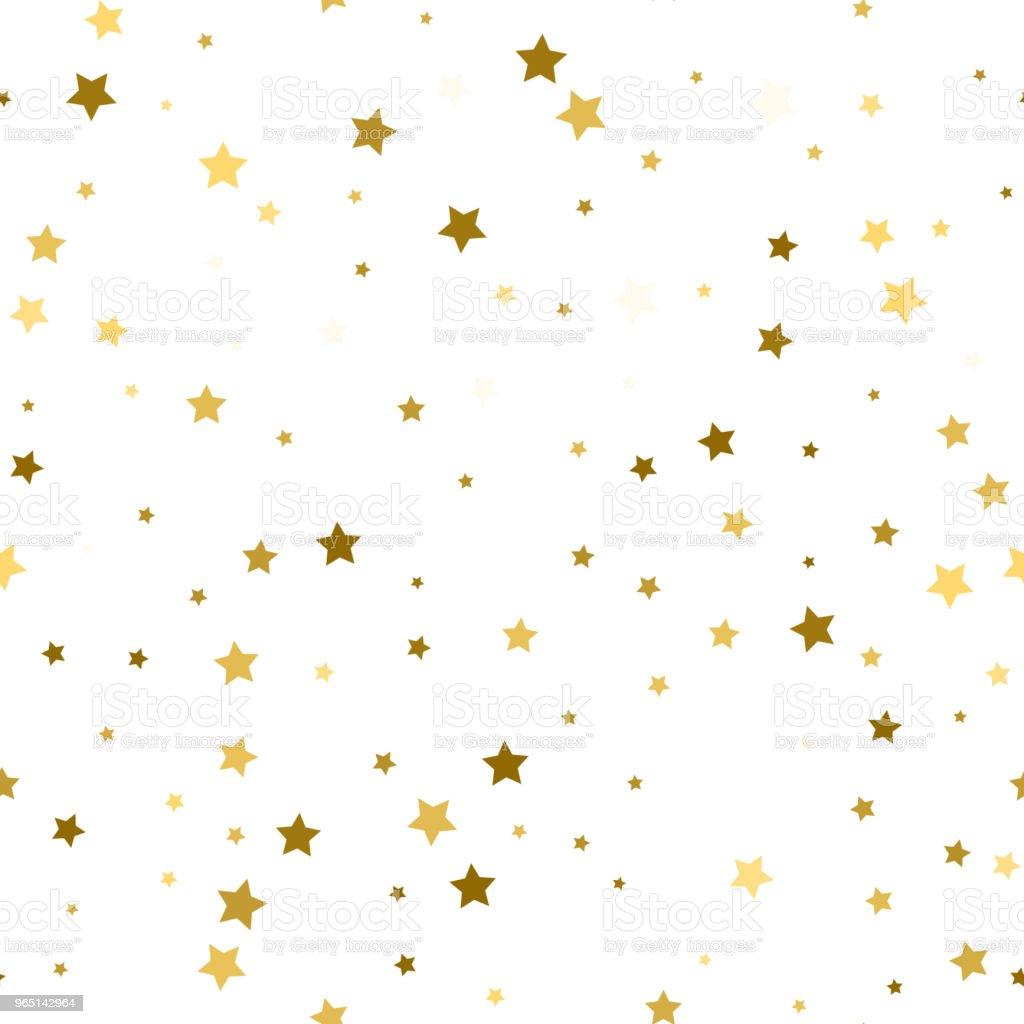 Abstract white modern seamless pattern with gold stars. Vector illustration.Shiny background. Texture of gold foil. abstract white modern seamless pattern with gold stars vector illustrationshiny background texture of gold foil - stockowe grafiki wektorowe i więcej obrazów abstrakcja royalty-free