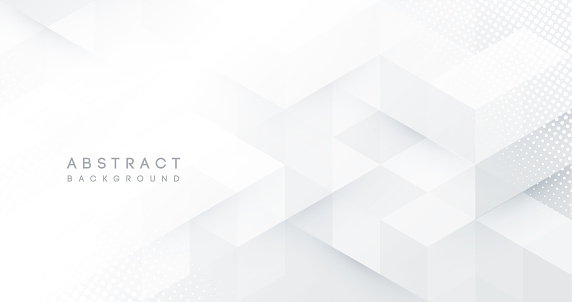 Abstract white monochrome vector background with shadow line, for design brochure, website, flyer. Geometric white wallpaper for certificate, presentation, landing page